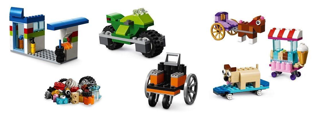 LEGO Classic 10715 ladrillos sobre ruedas ideas y figuras